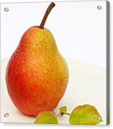 Ripe Pear With Leaves Acrylic Print