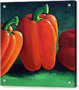Ripe Red Peppers Acrylic Print