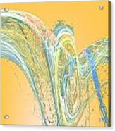 Ripple Yellow Acrylic Print