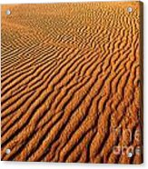 Ripple Patterns In The Sand 1 Acrylic Print