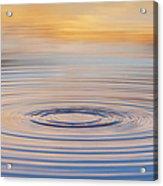 Ripples On A Still Pond Acrylic Print by Tim Gainey