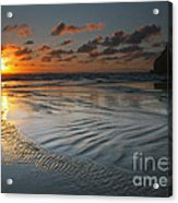 Ripples On The Beach Acrylic Print