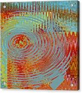 Rippling Colors No 1 Acrylic Print