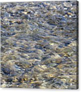 Rippling Water Over Rocks Acrylic Print