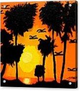 Rising Glow At Sunset Acrylic Print