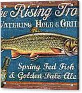 Rising Trout Sign Acrylic Print by JQ Licensing