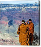 Risk-taking At The Grand Canyon Acrylic Print