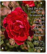 Risk To Blossom Acrylic Print