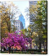 Rittenhouse Square In Springtime Acrylic Print