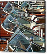 Riva Runabouts Framed Print By Steven Lapkin