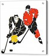 Rivalries Penguins And Flyers Acrylic Print