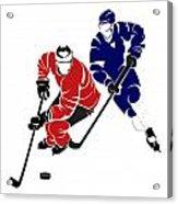 Rivalries Senators And Maple Leafs Acrylic Print