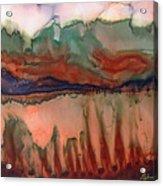 River Aflame Acrylic Print