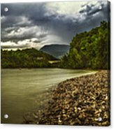 River Below The Clouds Acrylic Print
