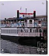 River Boat At Dock Acrylic Print