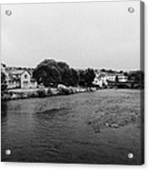 River Derwent On A Rainy Overcast Day Cockermouth Cumbria England Acrylic Print