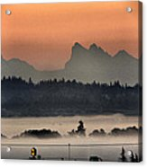 River Fog Acrylic Print by Donald Torgerson
