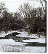 River Freeze Acrylic Print
