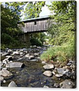 River Gorge Covered Bridge Acrylic Print by Jim  Wallace