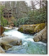 River House In Spring Acrylic Print