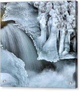River Ice Acrylic Print