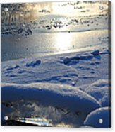 River Ice Acrylic Print by Hanne Lore Koehler