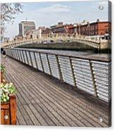 River Liffey Boardwalk In Dublin Acrylic Print