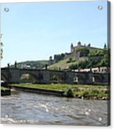 River Main With Fortress - Wuerzburg Acrylic Print