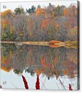 River Mirror Autumn Acrylic Print