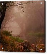 River Mist On A Mystical Morning Acrylic Print