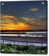 River Mouth At Sunset Acrylic Print