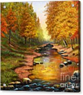 River Of Colors Acrylic Print