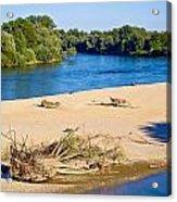 River Of Drava Green Nature Acrylic Print