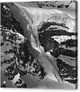 1m3646-bw-river Of Ice On Snowbird Glacier Acrylic Print