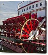 River Paddle Steamer Acrylic Print