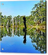 River Panorama And Reflections Acrylic Print
