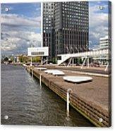 River Promenade In Rotterdam Acrylic Print