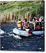 River Rafting Acrylic Print