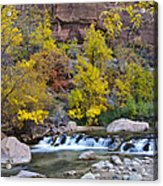 River Rapids In Zion Acrylic Print