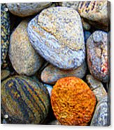 River Rocks 1 Acrylic Print