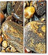 River Rocks 16 In Stereo Acrylic Print