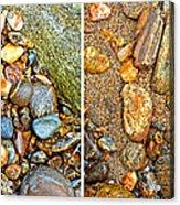 River Rocks 9 In Stereo Acrylic Print
