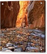 River Rocks In The Narrows Acrylic Print