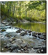River Rocks Acrylic Print