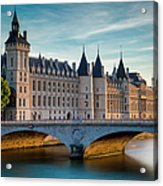 River Seine With Conciergerie Acrylic Print