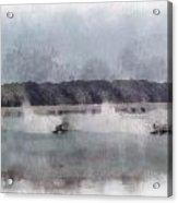 River Speed Boat Racing Photo Art Acrylic Print