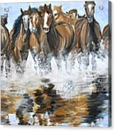 River Stampede Acrylic Print