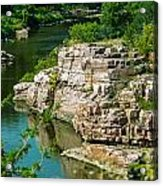 River Through The Rocks Acrylic Print