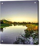 River Tone At Burrowbridge Acrylic Print
