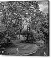River Tranquility Monochrome Acrylic Print
